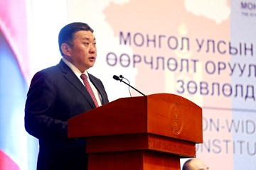 Video: Opening remarks by the H.E.Mr. M.Enkhbold, Chairman of The State Great Hural (Parliament) of Mongolia, at the Deliberative meeting of the Deliberative polling on Constitutional Amendment