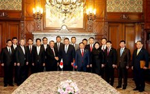 Chairman of the Parliament of Mongolia welcomed by Speakers of Japanese Houses